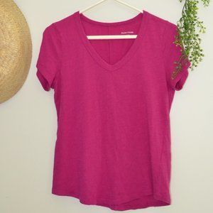 Eileen Fisher V-Neck T-Shirt Top Size XS